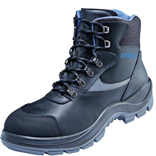 ATLAS-S3-Sicherheits-Arbeits-Berufs-Schuhe, Hochschuhe, Alu-Tec 735 XP, schwarz