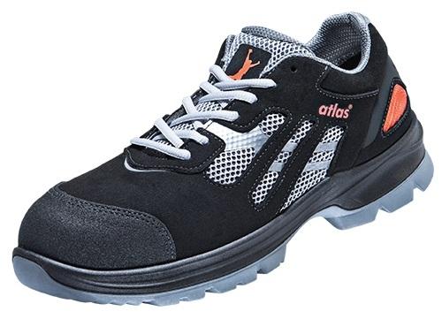 ATLAS-S1P-Sicherheits-Arbeits-Berufs-Schuhe, Halbschuhe, FLASH 2005 XP, Weite: 12, ESD, schwarz
