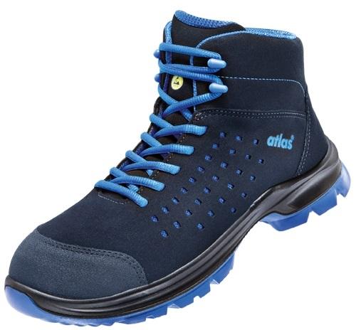 ATLAS-S1-Sicherheits-Arbeits-Berufs-Schuhe, Hochschuhe, SL 82, blue, ESD, blau, Weite 12