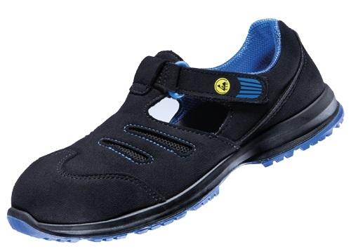 ATLAS-S1-Damen-Sicherheits-Arbeits-Berufs-Sandalen, GX 350 black, schwarz