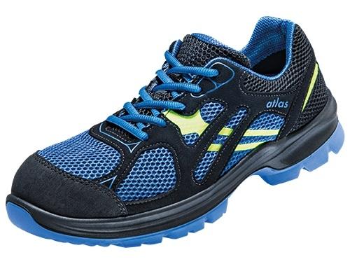 ATLAS S 2-Sicherheits-Arbeits-Berufs-Schuhe, Halbschuhe, FLASH 4000, blau