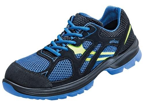 ATLAS-S1P-Sicherheits-Arbeits-Berufs-Schuhe, Halbschuhe, FLASH 4005 XP, ESD, schwarz/blau