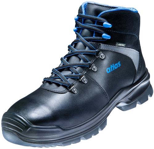 ATLAS-S3-Sicherheitsschuhe, GTX 785 GORE-TEX, W12, Weite 12, schwarz/blau