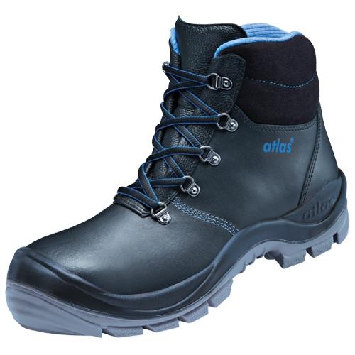 ATLAS-S3-Sicherheits-Arbeits-Berufs-Schuhe, Hochschuhe, Duo Soft 735 HI, schwarz