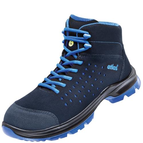 ATLAS-S1P Sicherheits-Arbeits-Berufs-Schuhe, Hochschuhe, SL 825 XP blue, ESD, Weite 12, blau