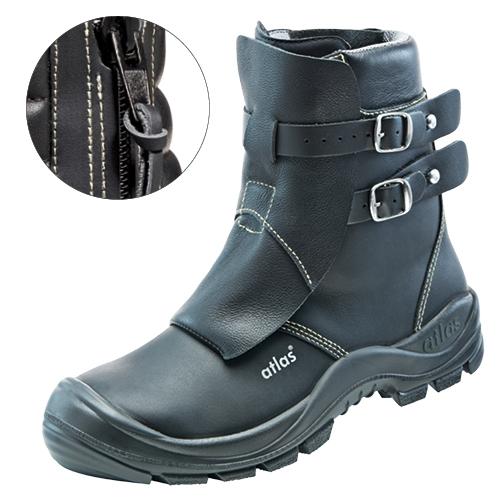 ATLAS-S3-HI-Schweißer-Sicherheits-Arbeits-Berufs-Schuhe, hoch, Duo Soft 792 HI, schwarz