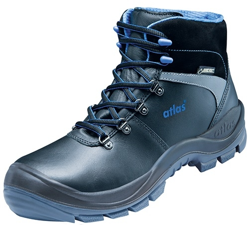 ATLAS-S3 CI-Sicherheits-Arbeits-Berufs-Schuhe, Hochschuhe, GTX 745 XP Gore-Tex, schwarz