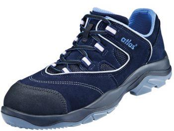ATLAS-S1-Sicherheits-Arbeits-Berufs-Schuhe, Halbschuhe, Ergo-Med CF 4, ESD, Weite 13, blau