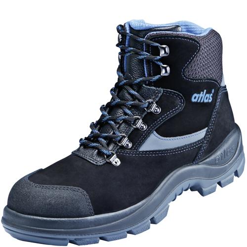 ATLAS-S3-Sicherheits-Arbeits-Berufs-Schuhe, Hochschuhe, Ergo-Med 735 XP, ESD, Weite 14, schwarz