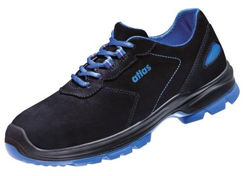 ATLAS-S2-Sicherheits-Arbeits-Berufs-Schuhe, Halbschuhe, Ergo-Med 600, ESD, Weite 14 schwarz