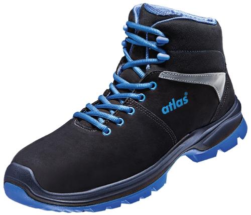 ATLAS-S2-Sicherheitsschuhe, ERGO-MED 80, ESD, Weite 12, schwarz/blau
