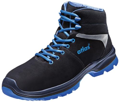 ATLAS-S2-Sicherheitsschuhe, ERGO-MED 80, ESD, Weite 14, schwarz/blau