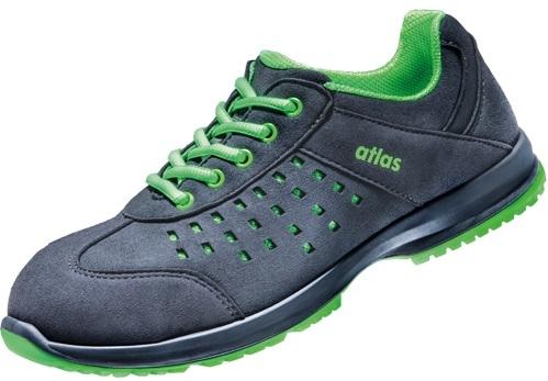 ATLAS-S1-Sicherheits-Arbeits-Berufs-Schuhe, Halbschuhe, GX 132 green, ESD, schwarz/grün