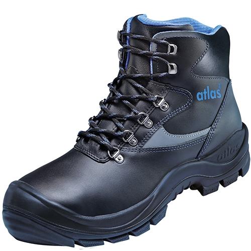 ATLAS-S3-Sicherheits-Arbeits-Berufs-Schuhe, Hochschuhe, Ergo-Med 500 XP, schwarz