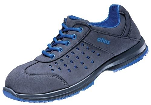 ATLAS-S1-Sicherheits-Arbeits-Berufs-Schuhe, Halbschuhe, GX 134 blue, ESD, schwarz/blau