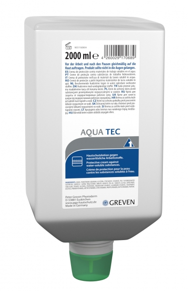 GREVEN-Hand-/Haut-Schutz-Pflege, HAUTSCHUTZLOTION, Aqua-tec / Lotion, 2000 ml