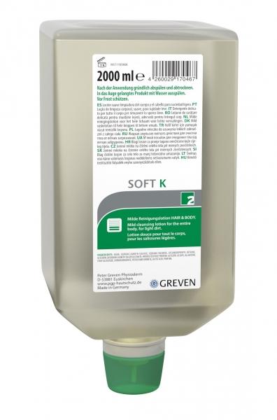 GREVEN-Hand-/Hände-Reiniger, REINIGUNGSLOTION, Soft K, 2000 ml