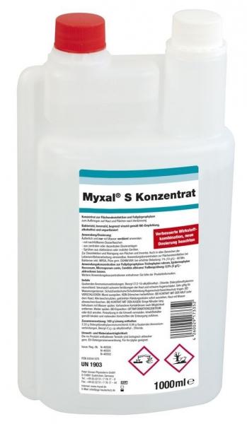 GREVEN-Reinigung-Desinfektion, FUSSPILZ-PROPHYLAXE, Myxal S Konzentrat, 1000 ml Dosierflasche