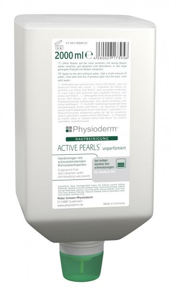 GREVEN-Hand-/Hände-Reiniger, HAUTREINIGUNG, Physioderm active pearls, unparfümiert, 2000 ml Faltflasche