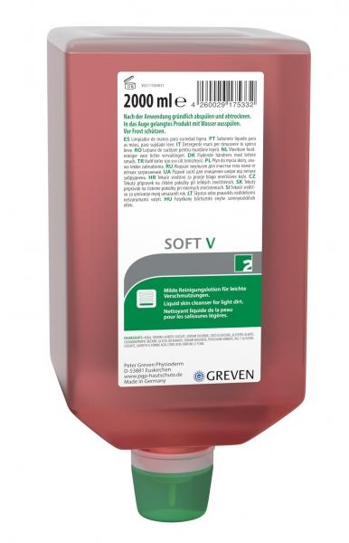 GREVEN-Hand-/Hände-Reiniger, REINIGUNGSLOTION, Soft V, 2000 ml Varioflasche