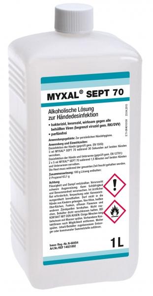 GREVEN-Hand-/Hände-Desinfektion, Myxal Sept 70, 1000 ml Hartflasche