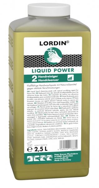GREVEN-Hand-/Hände-Reiniger, HAUTREINIGUNG, Lordin Liquid Power, 2500 ml Hartflasche