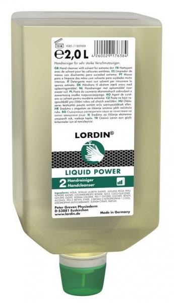 GREVEN-Hand-/Hände-Reiniger, HAUTREINIGUNG, Lordin Liquid Power, 2000 ml Varioflasche