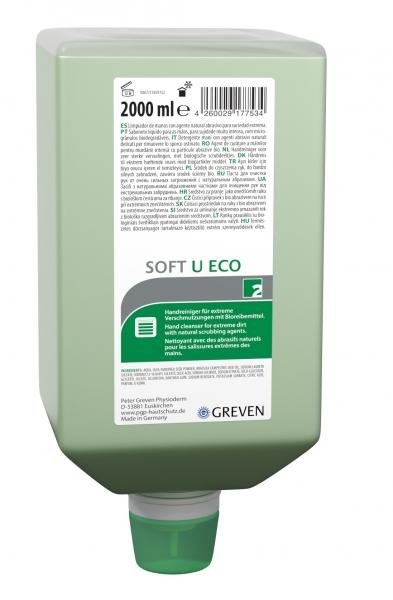 GREVEN-Hand-/Hände-Reiniger, REINIGUNGSLOTION, Ivraxo soft U ECO, 2000 ml Varioflasche