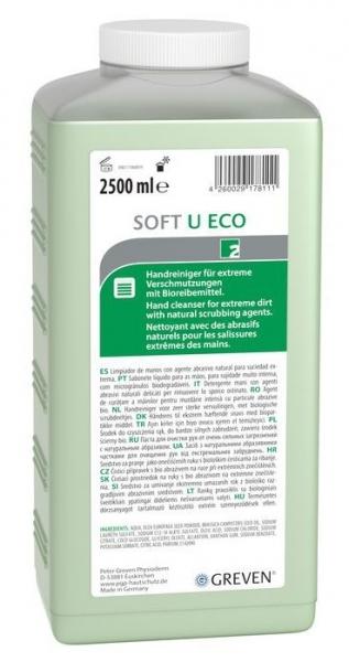 GREVEN-Hand-/Hände-Reiniger, HAUTREINIGUNG, Greven Soft U eco, 2500 ml Hartflasche