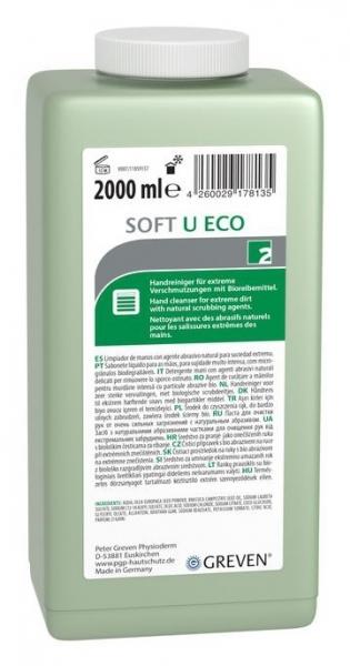 GREVEN-Hand-/Hände-Reiniger, HAUTREINIGUNG, Greven Soft U eco, 2000 ml Hartflasche