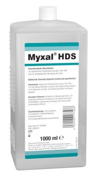 GREVEN-Hand-/Hände-Desinfektion, HÄNDEDEKONTAMINATION, Myxal HSD, 1000 ml Hartflasche