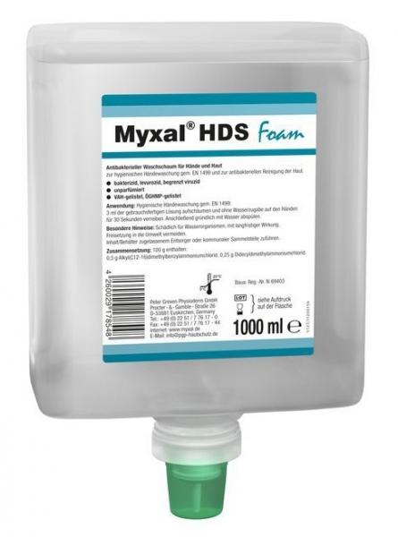 GREVEN-Hand-/Hände-Desinfektion, HÄNDEDEKONTAMINATION, Myxal HSD FOAM, 1000 ml Neptuneflasche