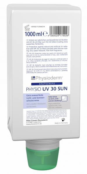 GREVEN-Hand-/Haut-Schutz-Pflege, HAUTSCHUTZ, Physio UV 30 sun, 1000 ml Varioflasche