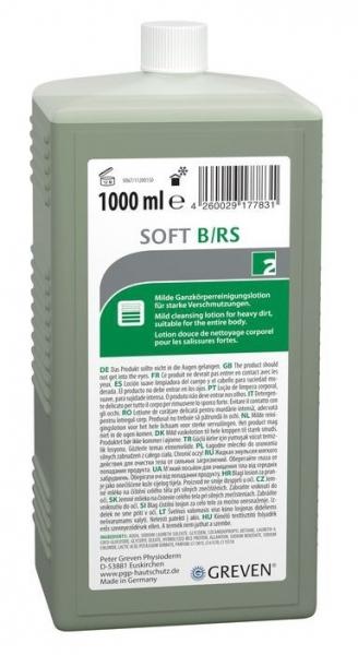 GREVEN-Hand-/Hände-Reiniger, REINIGUNGSLOTION, Ivraxo soft B/RS, 1 ltr. Hartflasche