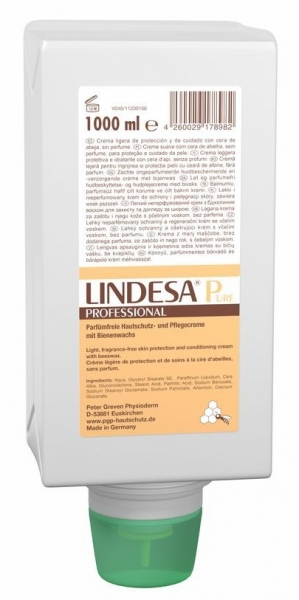 GREVEN-Hand-/Haut-Schutz-Pflege, HAUTSCHUTZCREME, LINDESA Pure Professional, 1000 ml Varioflasche