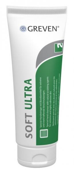 GREVEN-Hand-/Hände-Reiniger, Handreiniger, Soft Ultra, Natur-Reibemittel, Tube 250 ml
