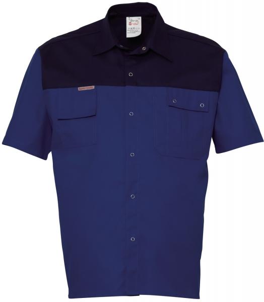 HAVEP-Hemd, Kurzarm, 195 g/m², kornblau/marine
