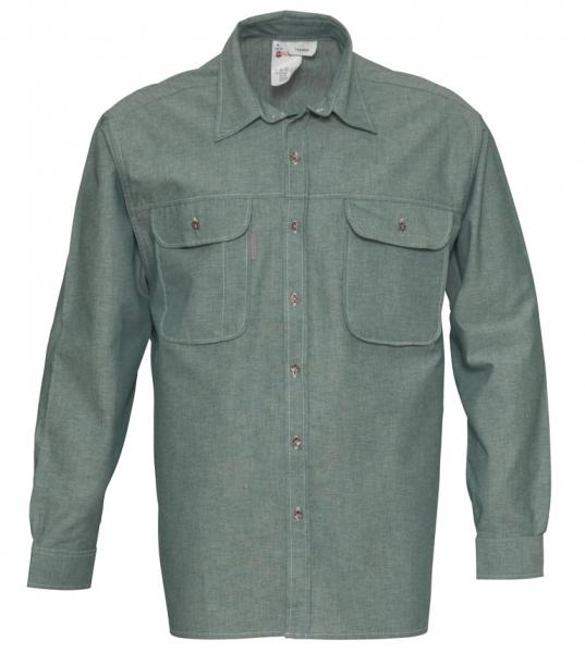 HAVEP-Workwear-Arbeits-Berufs-Hemd, Basic, Langarm, 145 g/m², flaschengrün