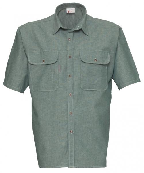 HAVEP-Workwear-Arbeits-Berufs-Hemd, Basic, Kurzarm, 145 g/m², flaschengrün