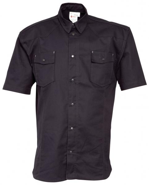 HAVEP-Workwear-Arbeits-Berufs-Hemd, Basic, Kurzarm, 195 g/m², schwarz