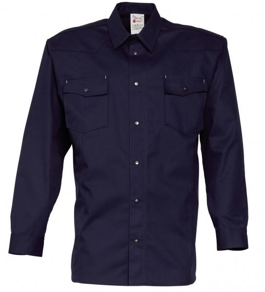 HAVEP-Workwear-Arbeits-Berufs-Hemd, Basic, Langarm, 195 g/m², marine