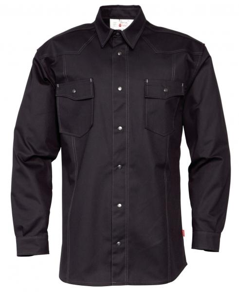 HAVEP-Workwear-Arbeits-Berufs-Hemd, Basic, Langarm, 195 g/m², schwarz