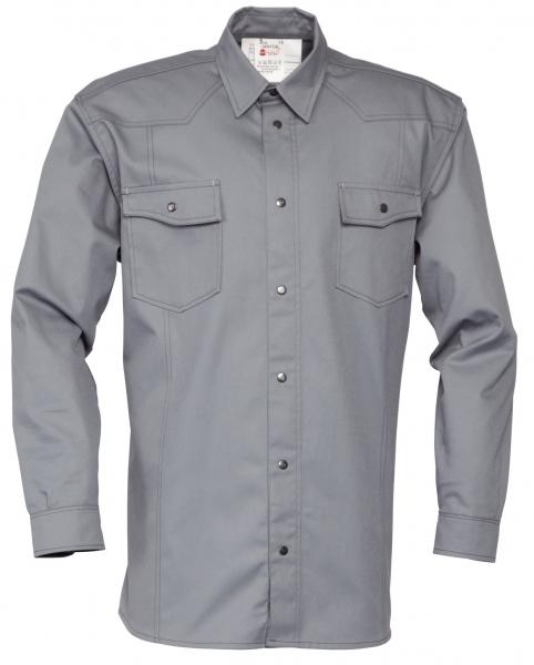 HAVEP-Workwear-Arbeits-Berufs-Hemd, Basic, Langarm, 195 g/m², grau