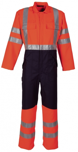 HAVEP-Warn-Schutz-Overall, 320 g/m², fluor orange/marine
