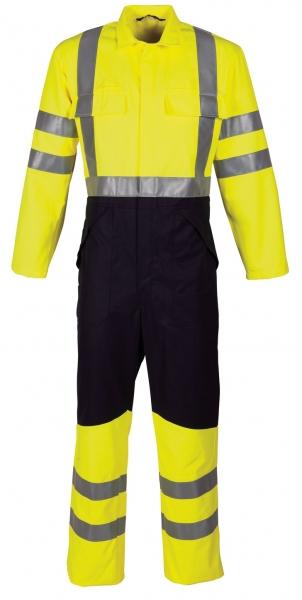 HAVEP-Warn-Schutz-Overall, 320 g/m², fluor gelb/marine