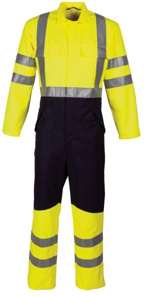 HAVEP-Warn-Schutz-Overall, 280 g/m², fluor gelb/marine