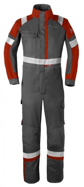 HAVEP-Safety Image +, Schweißer-Overall, Reflexstreifen, kohlengrau/rot