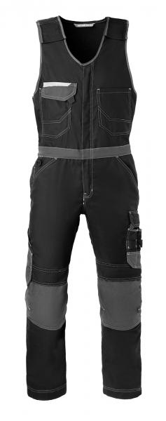 HAVEP-Attitude, Warnschutz-Bodyhose, retroreflektierende Biese, schwarz/kohlengrau