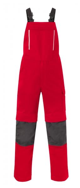 HAVEP Latzhose mit Knietaschen, rot/kohlengrau