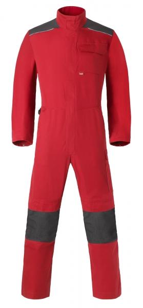 HAVEP Overall mit Knietaschen, rot/kohlengrau